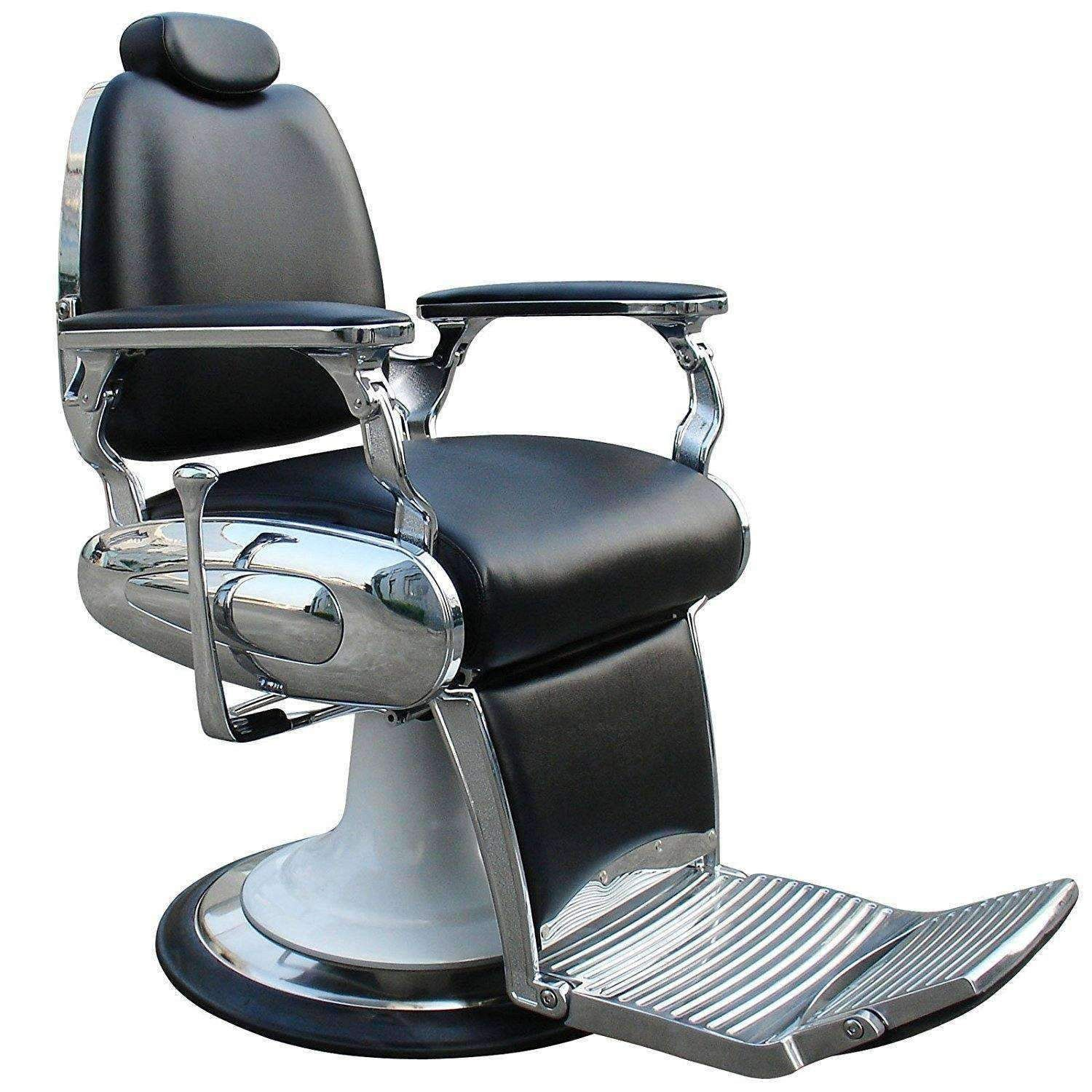 Black Barber Chair With Heavy Duty Base And Chrome Frames Barber Chair Barber Shop Chairs Barber