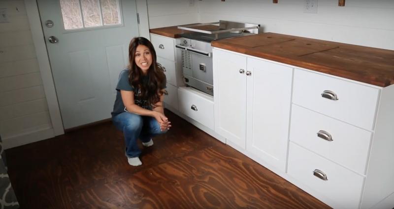Ana White Shows How to Build Tiny House Kitchen Cabinets | Tiny ...