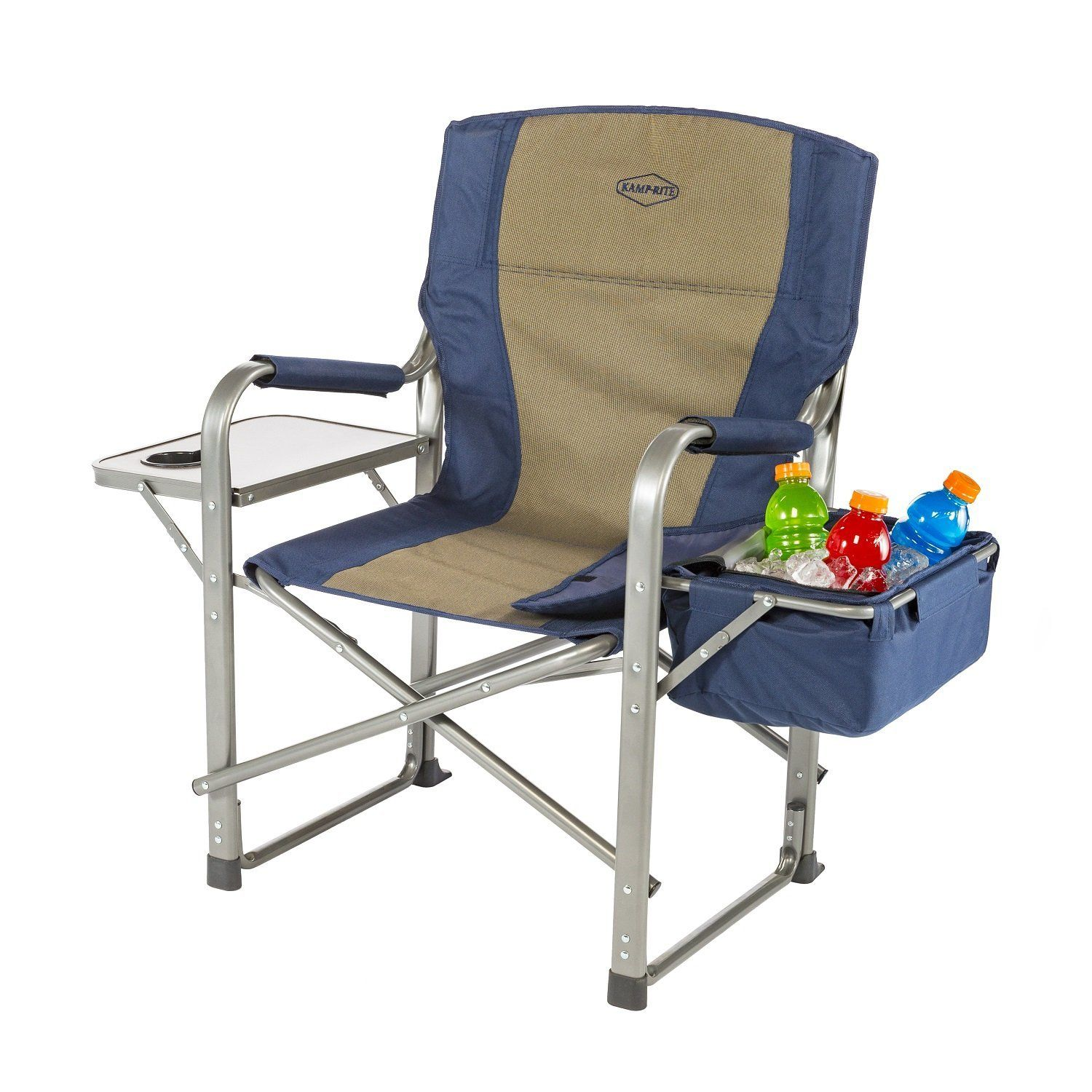 Outdoor chair camping - Kamp Rite Director S Chair With Side Table And Cooler Blue