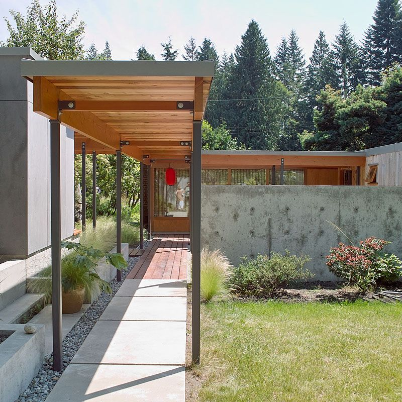 Covered Walkway From House To Garage Google Search