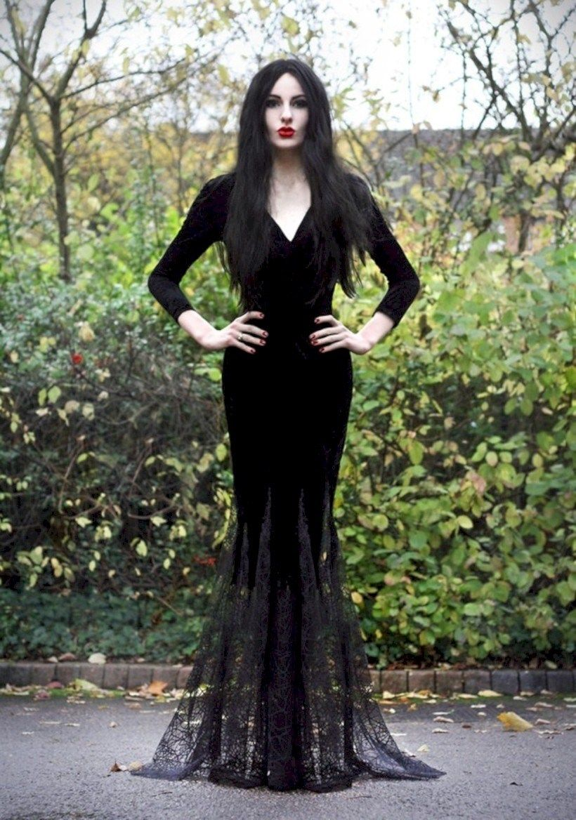 Image result for halloween wedding dress ideas Morticia