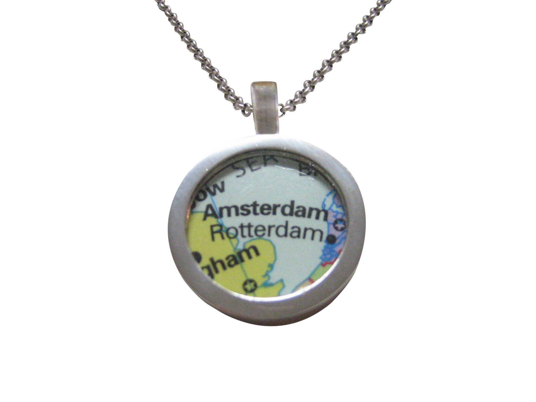 Rotterdam amsterdam map pendant necklace pinterest pendants and rotterdam amsterdam map pendant necklace gumiabroncs Image collections