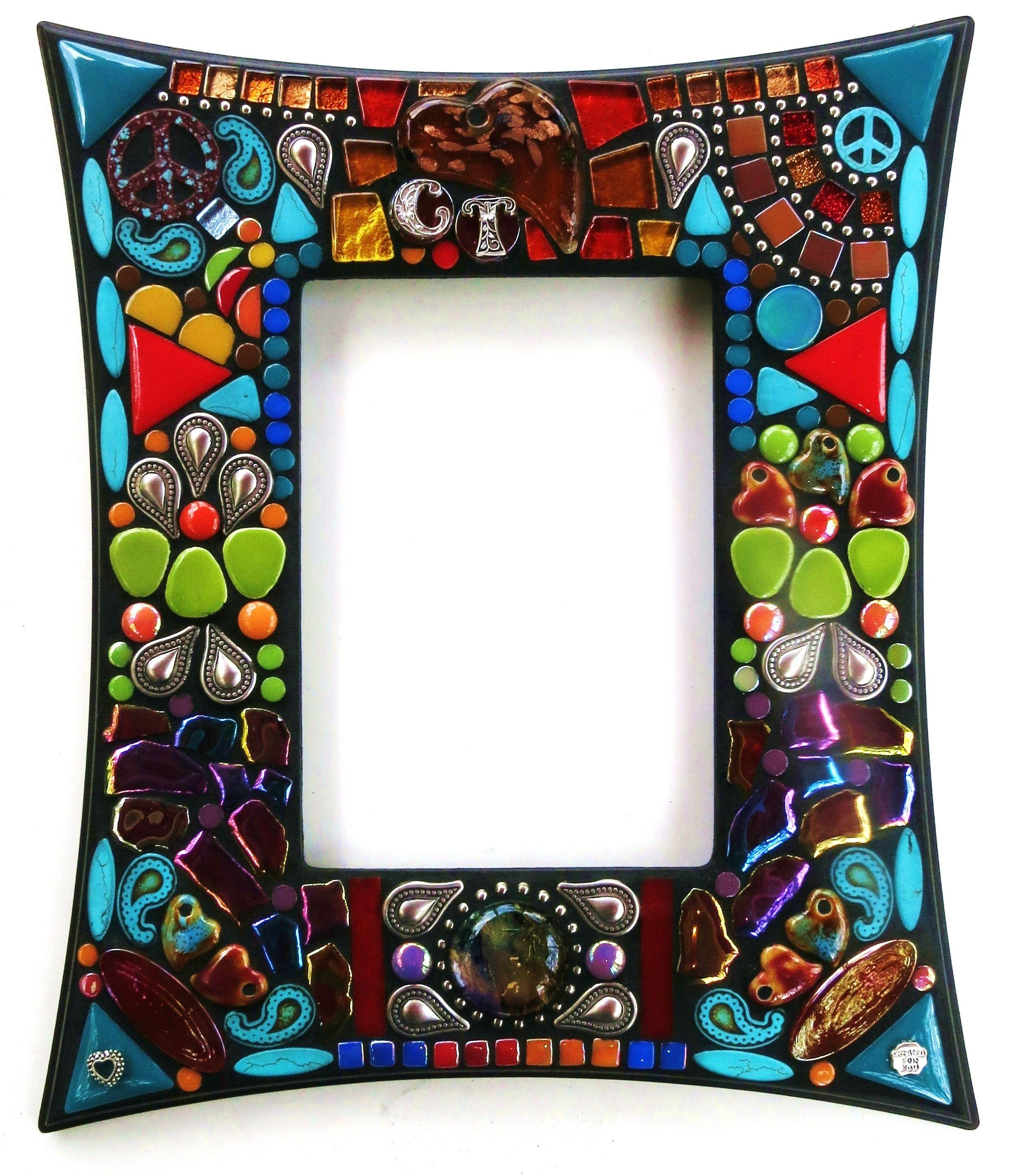Custom mosaic frame by Tina @ Wise Crackin\' Mosaics   MOSAICS ...