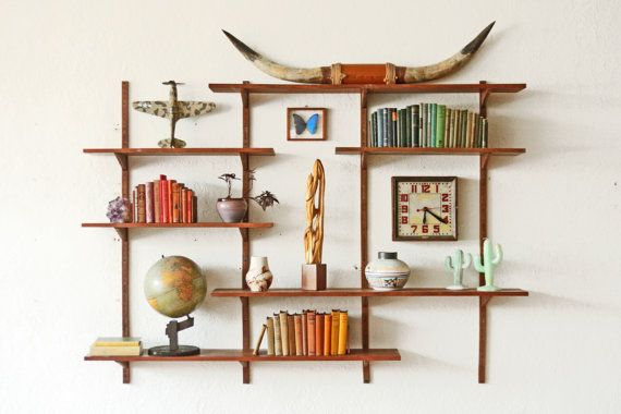 Your Place To Buy And Sell All Things Handmade Mid Century Shelves Mid Century Modern Shelves Modern Shelving