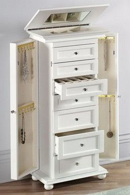 7 Drawer Jewelry Armoire Cabinet White In house Pinterest