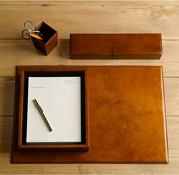 Artisan Leather Letter Tray Chestnut Leather Desk Accessories Leather Desk Leather Artisan
