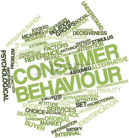 Abstract Word Cloud For Consumer Behaviour With Related border=