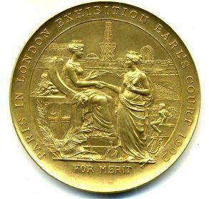 London exhibition medal obverse by Numismatic Bibliomania Society, via Flickr