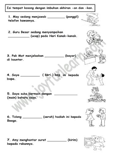 Latihan Imbuhan Untuk Tahun 1 2 3 Free Download Pdf Mykssr Com Di 2020 Bahasa Melayu Latihan Bahasa