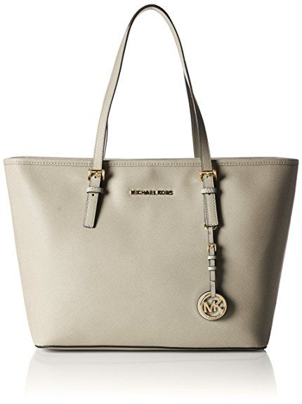 Michael Kors Womens Jet Set Travel Top-zip Tote Cement. UK handbag ... 1f394a746df