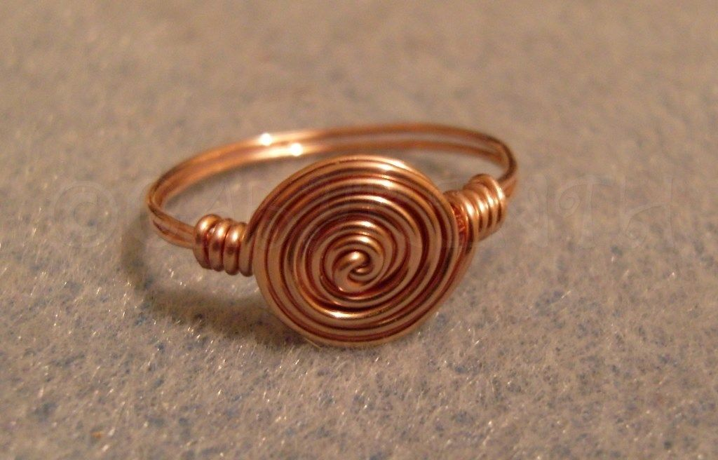 Copper Wired Rosette Ring.