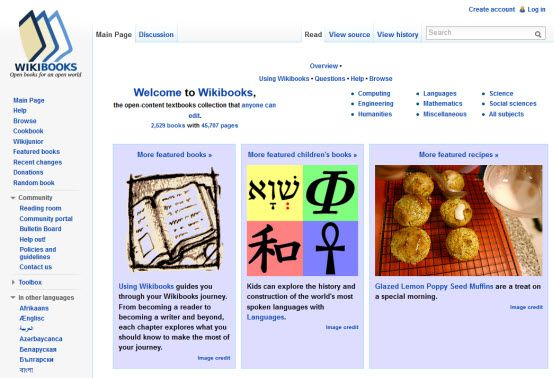 Wikibooks The Open Content Textbooks Collection That Anyone Can Edit 2 529 Books With 45 707 Pages Social Science Books Textbook