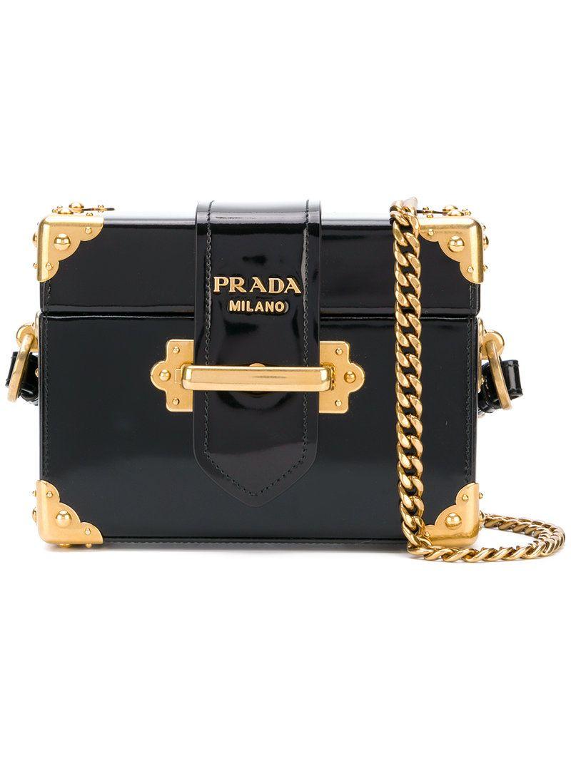 b0242ea68e06 PRADA PRADA - CAHIER MICRO BOX BAG .  prada  bags  shoulder bags  patent   charm  accessories