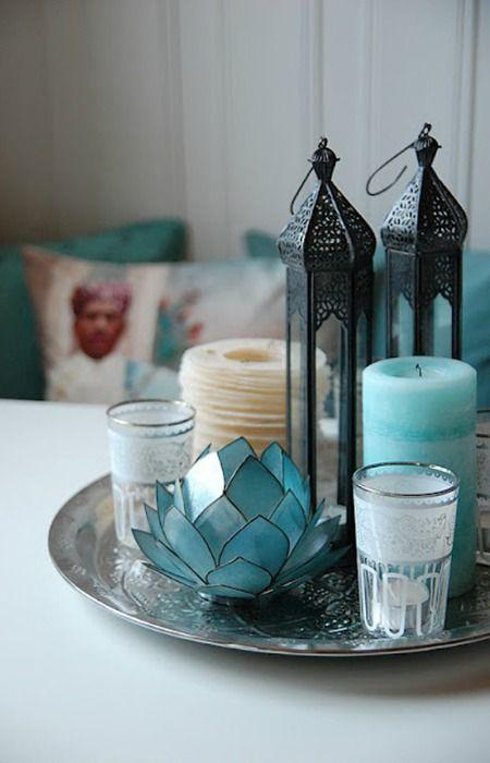 Bandeja como centro de mesa ecodeco mobiliario slow - Bandejas decoracion salon ...