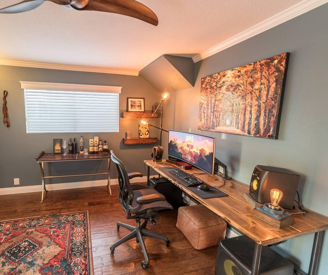 home office setups. 68 Likes, 2 Comments - Setup Tour (@setuptour_) On Instagram: \u201cHome Office Space /// #SetupTour⠀ ⠀ Source: @pneub⠀ #homeoffice #setup #setups #workspace\u2026 Home Setups