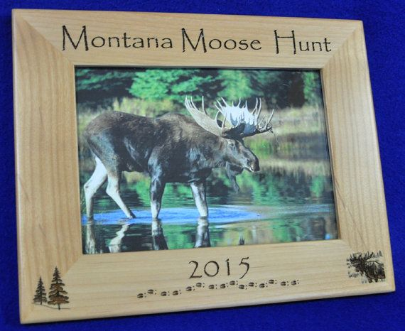Hunting ~ Moose Hunting ~ Hunting Frame ~ Hunting Gift ~ Gift For ...