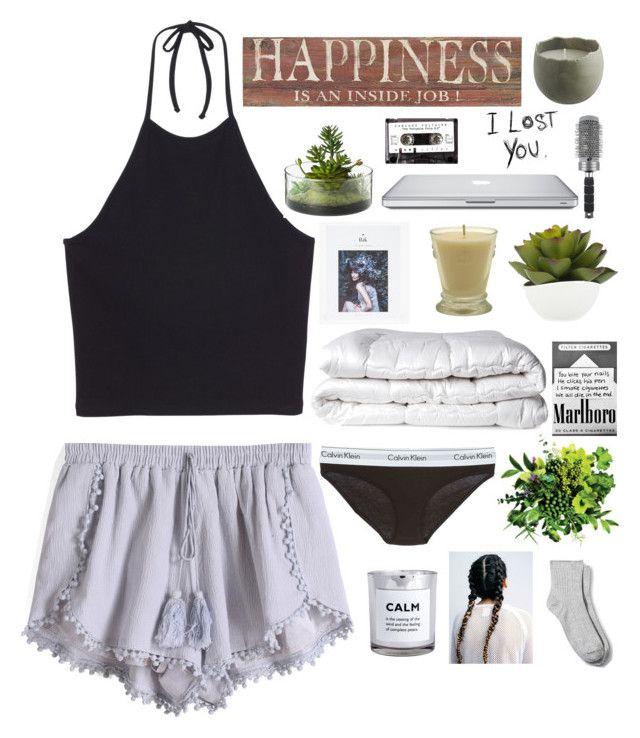 """Lazy dayz."" by emmayyoungg ❤ liked on Polyvore featuring Monki, Pier 1 Imports, Threshold, Calvin Klein Underwear, Brinkhaus, H&M, Love Quotes Scarves, Merona, ANNIE and T3"