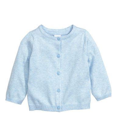 Katoenen vest | Lichtblauw gemêleerd | Kinderen | H&M NL