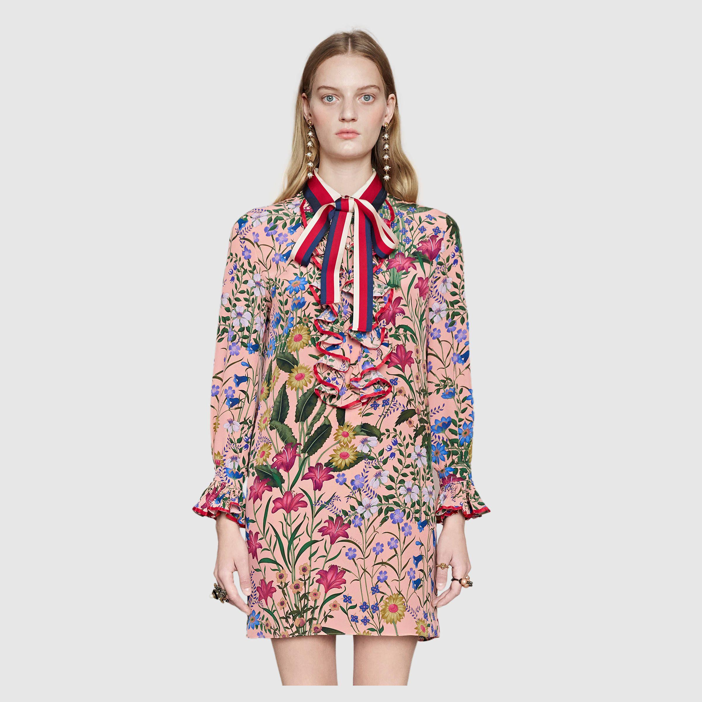 Gucci Kleid mit neuem Blumen-Print Detail 3 | floral | Pinterest