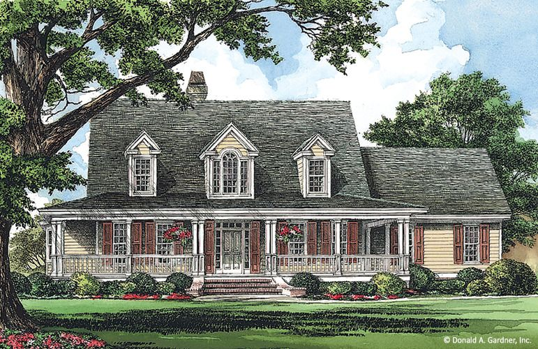 House Plan The Dobbins By Donald A Gardner Architects Country Style House Plans House Plans Home Design Floor Plans