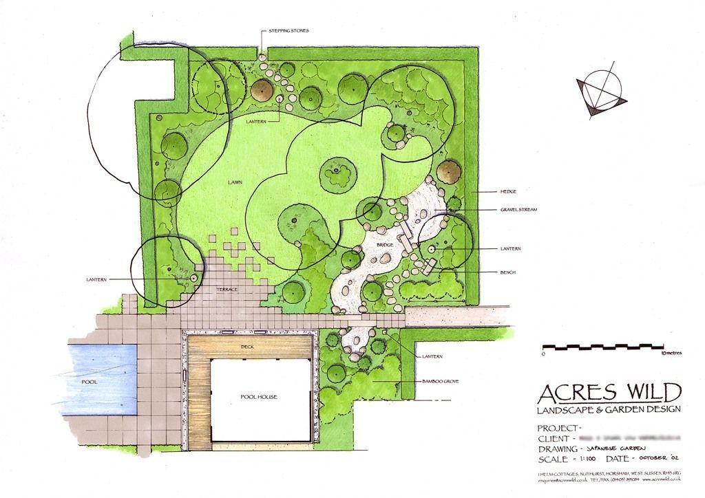 Masterplan Of Japanese Garden By Acres Wild Country Garden