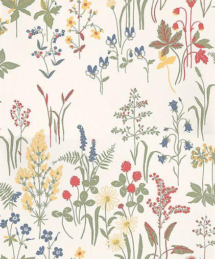 Flora Wallpaper By Sandberg Pattern Wallpaper Wallpaper