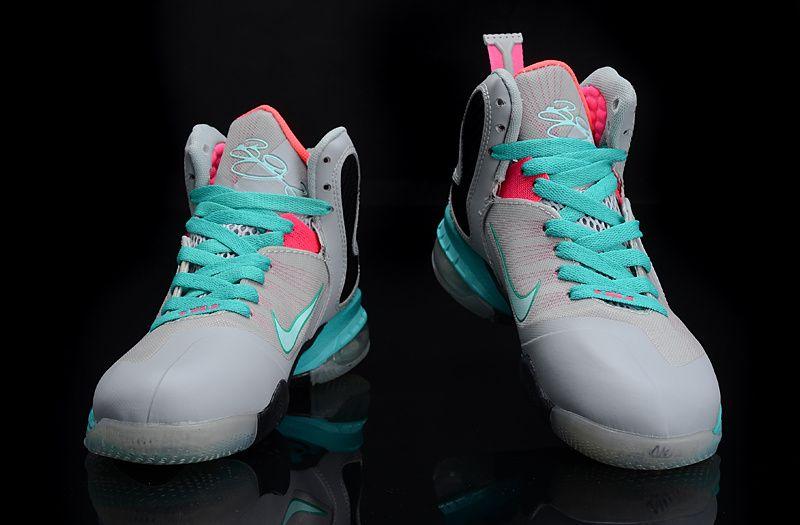 Nike Zoom LeBron 9 Women Basketball Shoes Gray/Pink/Jade, cheap Womens  Basketball Shoes, If you want to look Nike Zoom LeBron 9 Women Basketball  Shoes ...