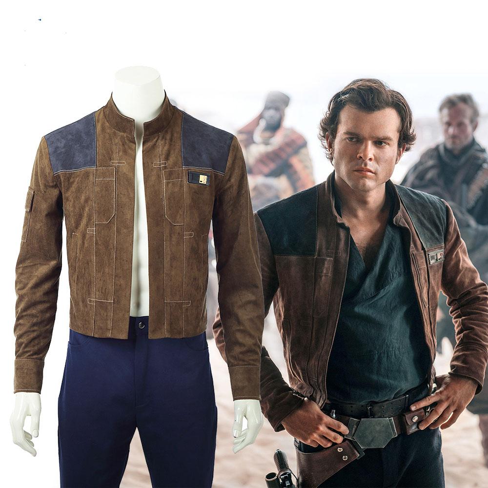 Movie Han Solo Jacket Star Wars Story Cosplay Leather Jacket Han Solo Jacket Leather Jacket Men [ 1000 x 1000 Pixel ]