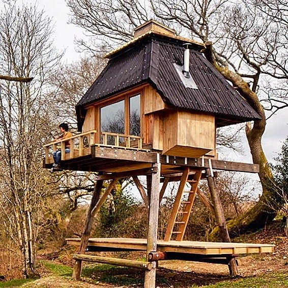 Shepherd Hut Floor Plans: House On Stilts, Cool Tree Houses, Micro