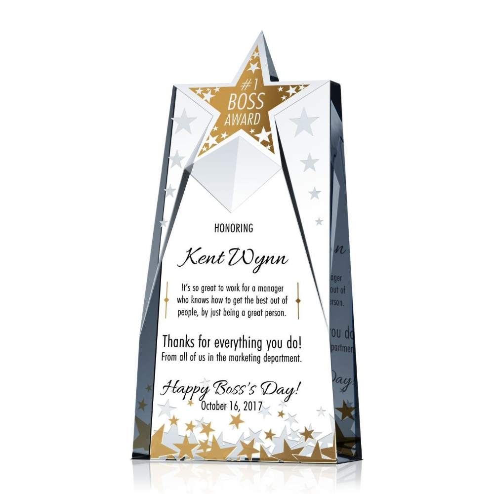 Star Shaped Boss Award Trophy Christmas Gifts For Your