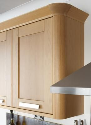 Full Height Wall Unit With Curved Corner Post Kitchen Tall
