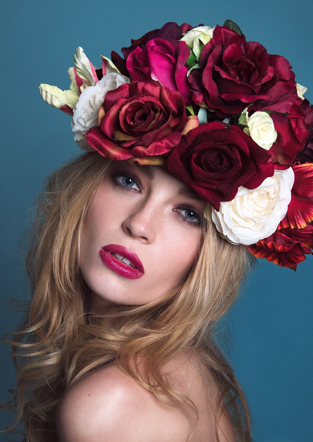 Pin by shady on flowers and women alike oversized statement flower crown by gypsy rose vintage xxx izmirmasajfo Images