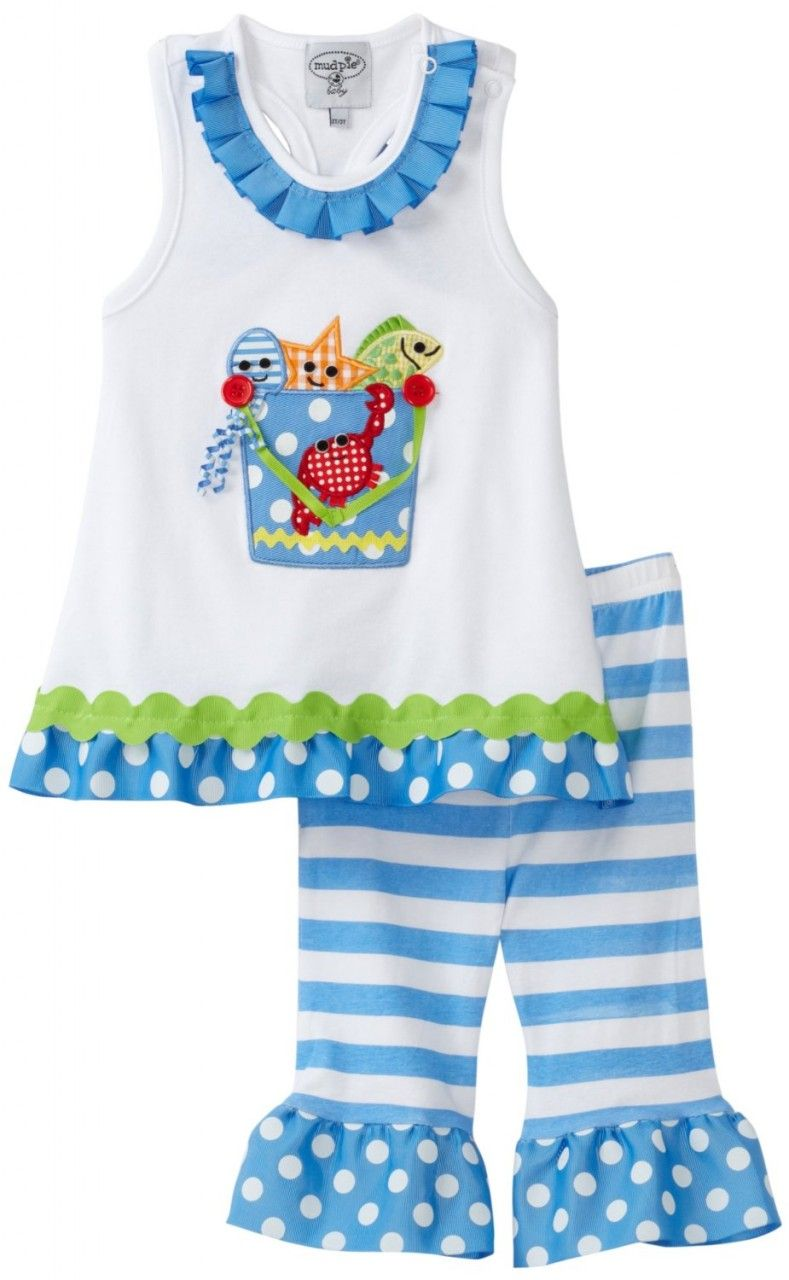 Surf\'s up with this cute Mud Pie Boathouse Baby Beach Bucket Shirt ...