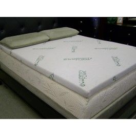 Eco 2 5 Inch Memory Foam Topper With Bamboo Cover Easy Way To Make