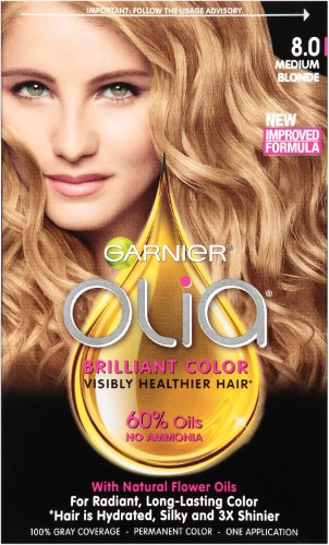Garnier Olia Oil Powered Permanent Hair Color 8 0 Medium Blonde
