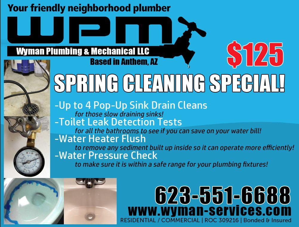 Plumbing Maintenance Package In Anthem Az Sink Drain Cleans Toilet Leak Detection Water Heater Flush And Water Pr Drain Cleaner Pop Up Sink Drain Sink Drain
