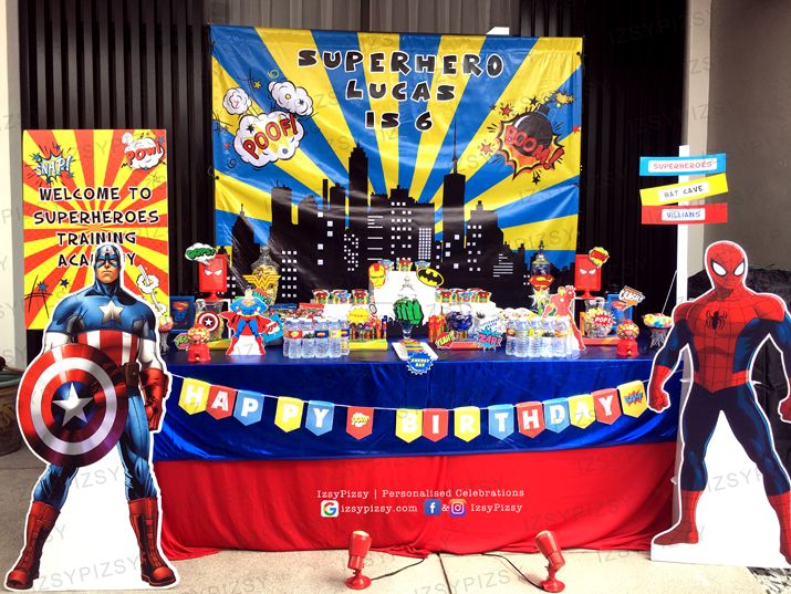 Superhero Dc Marvel Costume Game Kids Birthday Party Ideas Decorations Invitations Favor Supplies Batman Superman Spiderman Wonderwoman Malaysia
