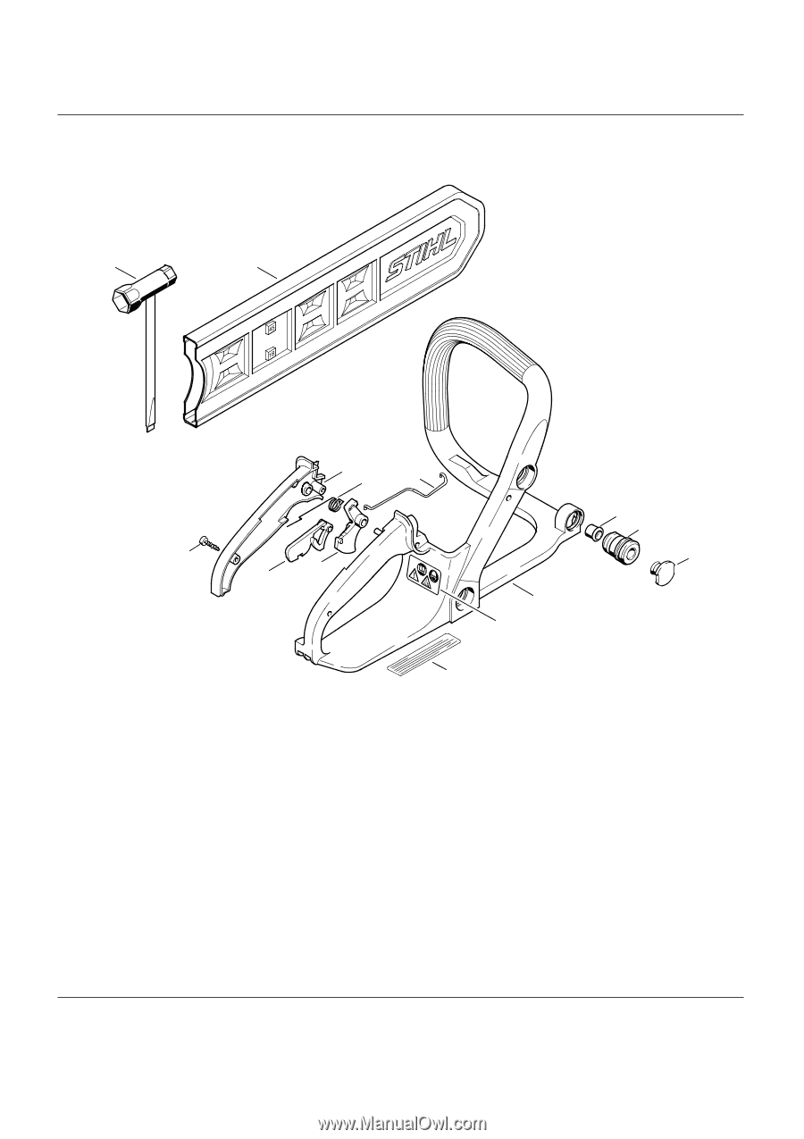 hight resolution of stihl ms 180 c be parts list page 1