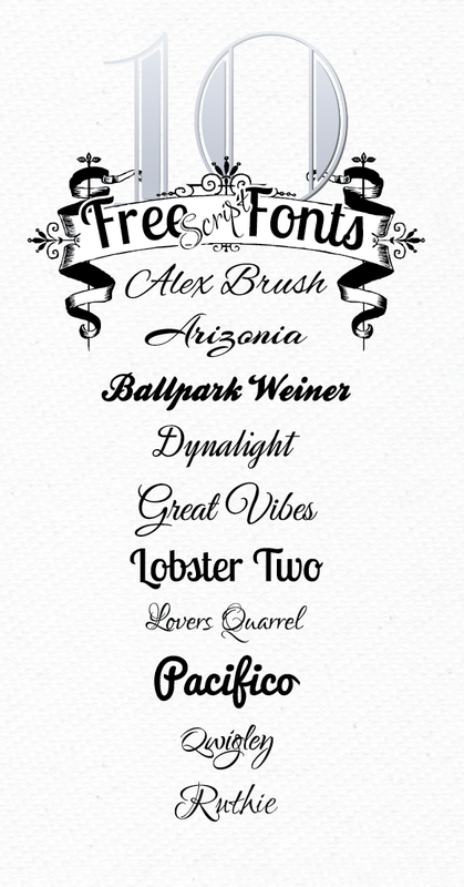 10 Free Script Fonts from Font Squirrel  ~~ {10 fonts free for Personal use AND Commercial use w/ easy download links}