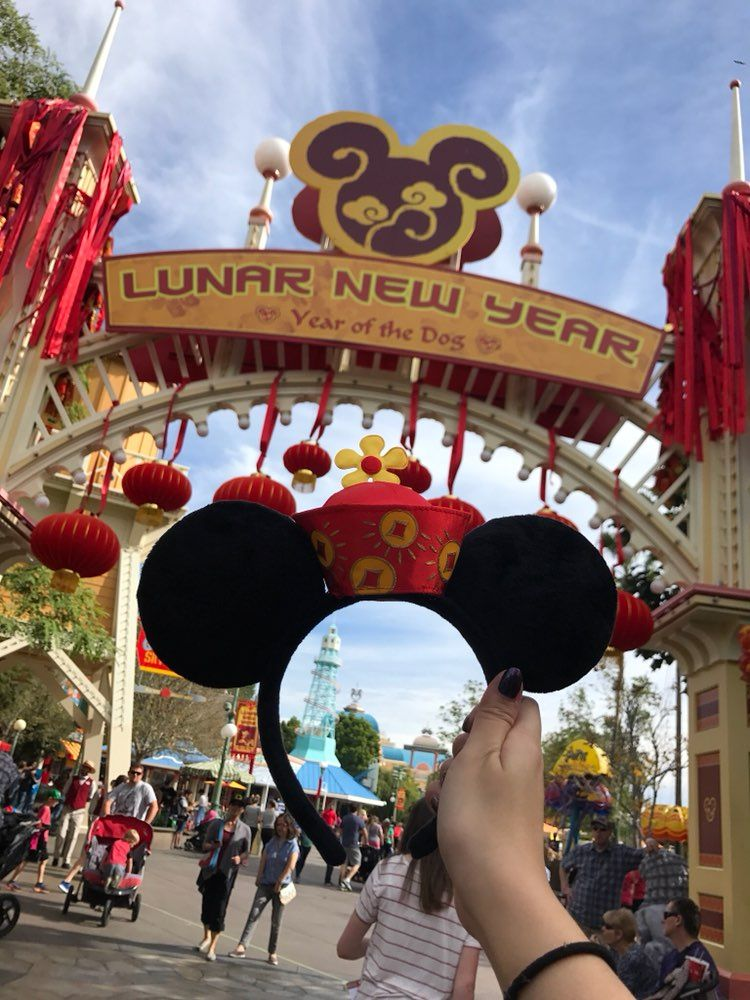 Brand New with Tags 2018 Lunar Year Minnie Mouse Ears