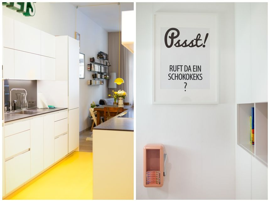 Architektenwohnung in Wien - Wiener Wohnsinnige Homestory Kitchens - küche ohne oberschränke