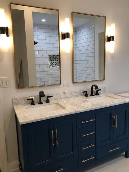Kendall Blue Bathroom Vanity Transitional Bathroom Vanities And Sink Consoles Blue Bathroom Vanity Bathroom Remodel Shower Transitional Bathroom Vanities