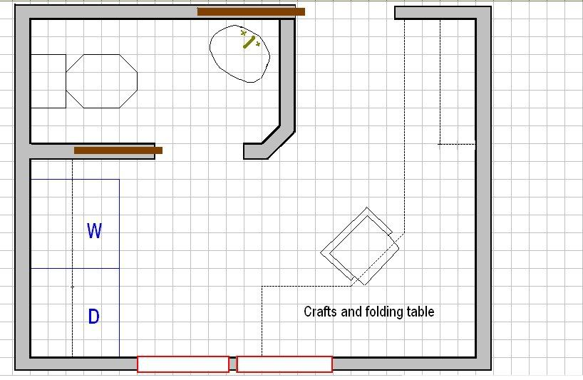 Bathroom laundry room layout with private water closet Laundry room blueprints