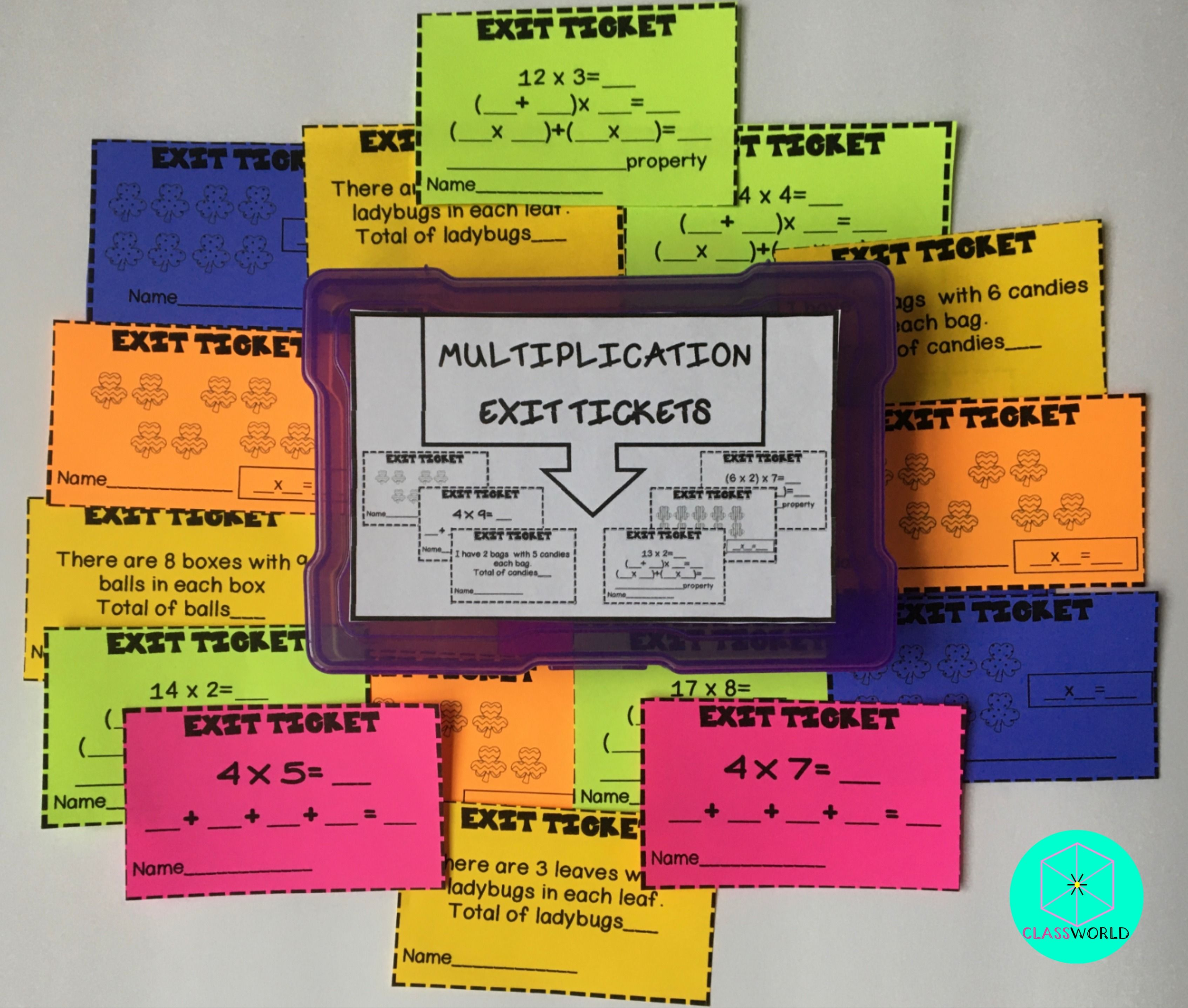 Exit Tickets Math Multiplication Properties