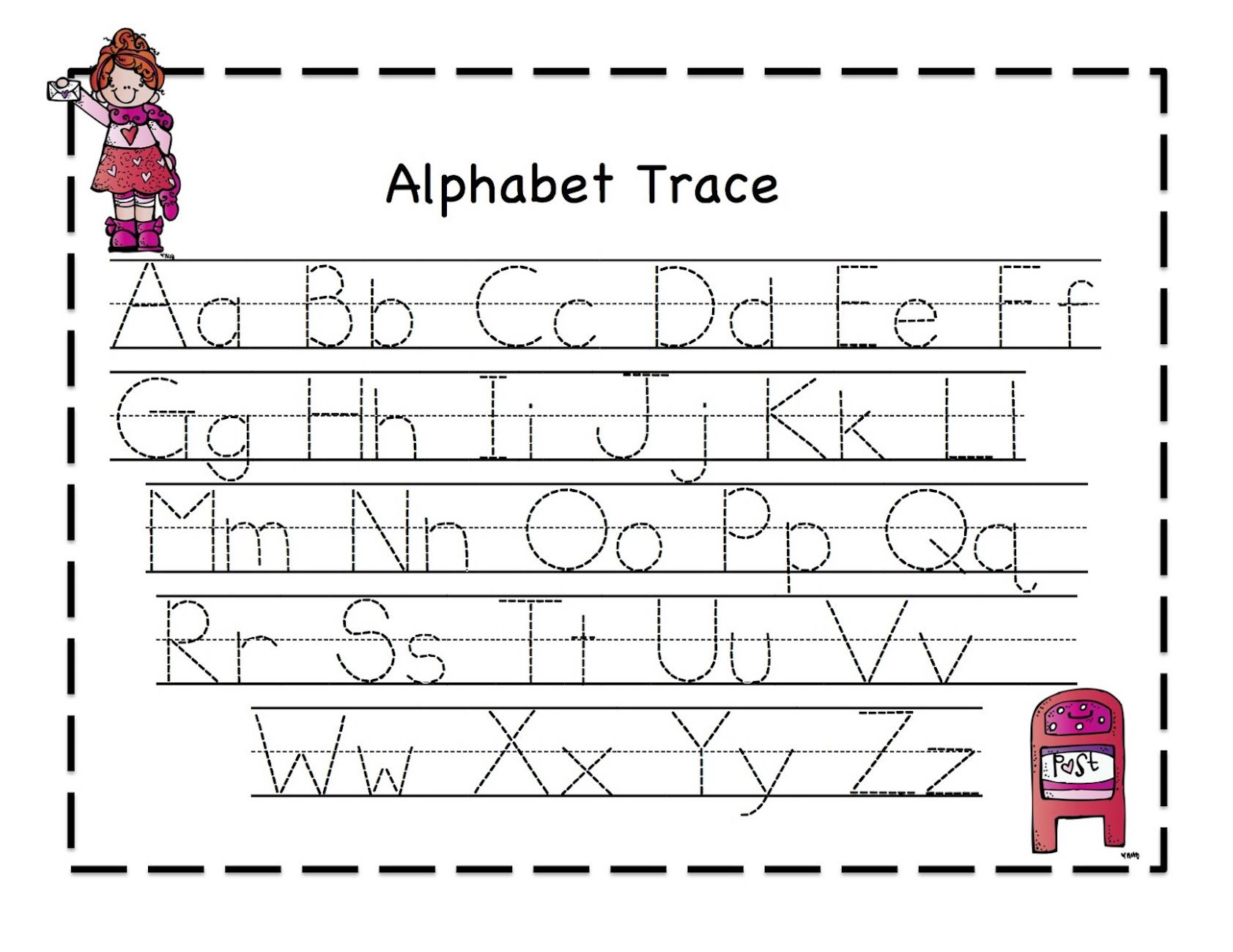 Printables Abc Tracing Worksheets tracing abc worksheets davezan davezan