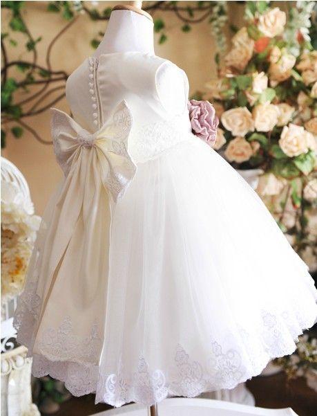 d8b1178cf Free shipping White princess flower girls dress Dress party evening ...