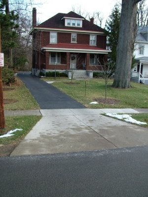 This thick concrete driveway apron may withstand more for Driveway apron ideas