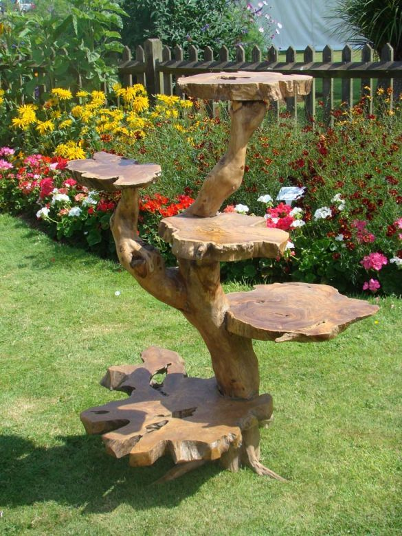 Exhibition Stand Tree : Fair trade large solid wooden teak root display stand