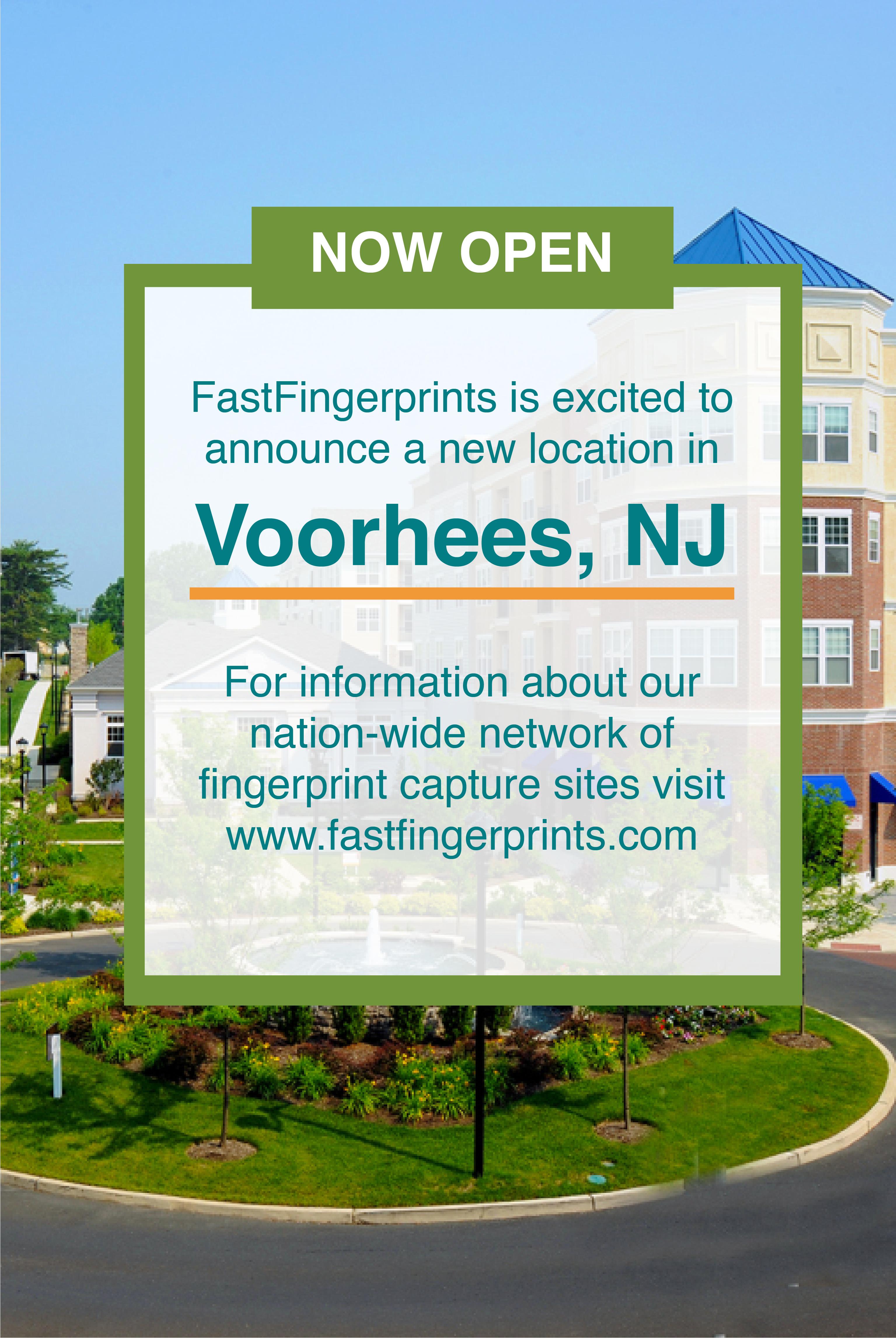 Fastfingerprints Voorhees Now Open Background Check Informative Fingerprint Cards