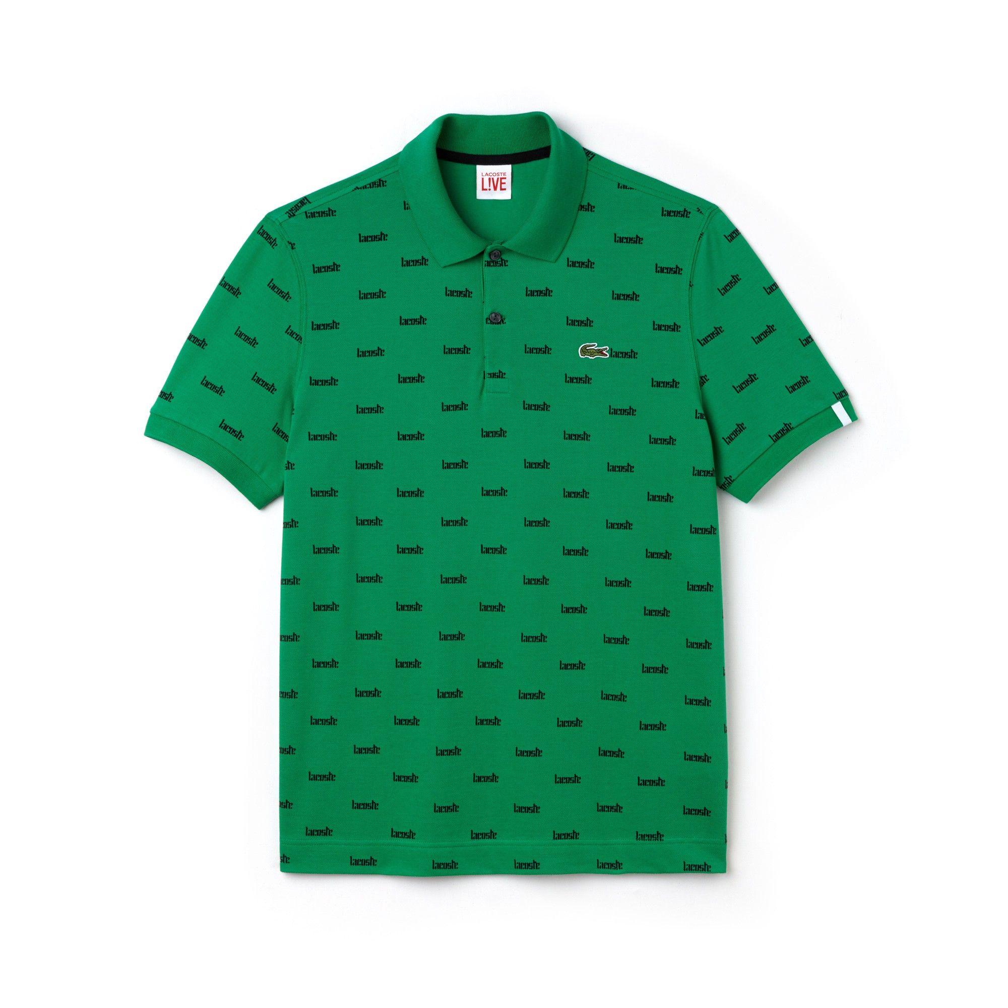 01a8d277bf Lacoste Men's Live Slim Fit Print Cotton Mini Piqué Polo - Xs 4 ...